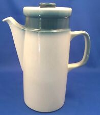 """Wedgwood Blue Pacific Coffee Pot (9.5"""" tall) - Vintage VGC"""