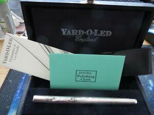 Yard O Led Smythson fountain pen 18K nib + box-cert 2004