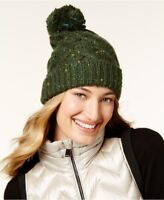 Steve Madden Women's Green Speckled Cable Beanie, One Size Fits All