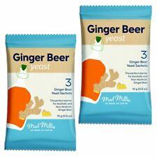2x Mad Millie Ginger Levure De Bière 3x Sachets rend 13.5 L 3 Gal (environ 11.36...