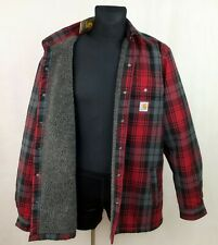 CARHATT MENS CHECKERED JACKET HUBBARD SHERPA LINED SHIRT JAC size L