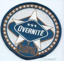 Overnite Transportation Co driver 7 million miles  patch 3-1/2 X 3-3/4 #433