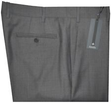 $395 NWT ZANELLA DEVON SOLID MID CHARCOAL SUPER 120'S WOOL MENS DRESS PANTS 38