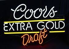 Coors Extra Gold Draft Neon Sign Works! Actown Man Cave Decor!