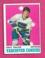 1970-71 OPC  # 255 CANUCKS DALE TALLON  ROOKIE EX+ CARD (INV# C8941)