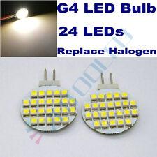 4x Garden light 24LEDs 3528 G4 LED Bulbs Replace 20W Halogen bulb Warm White 12V