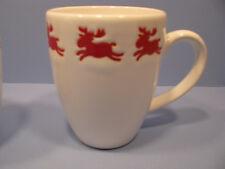 Willie Reindeer on White Latte Mugs Set of 4 Waechtersbach Fun Factory NEW