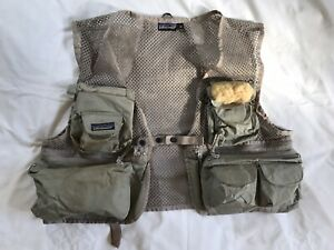 Patagonia Vintage Fly Fisherman's Vest sz M Lightweight Nylon Mesh