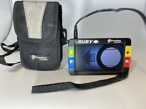 Ruby freedom scientific video magnifier with case