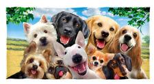 Dogs Selfie Cotton Beach Towel