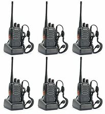 Two Way Radio 6 Set Walkie Talkie Headset Business Handheld Alarm Function Audio