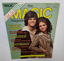 Vintage 1970s Magic Magazine Donny Marie Osmond Tricks ADS Doug Henning Pic