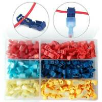 240pcs Multicolor T Type Plastic Hard Soft Wire Terminal Splice Crimp Connector
