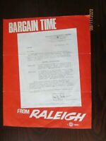 VINTAGE RALEIGH BICYCLES ADVERT INSERT FLYER FEBRUARY 1967. ( 20 cm x 25 cm)