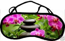 Masque de sommeil cache yeux anti lumière fatigue zen personnalisable REF 47