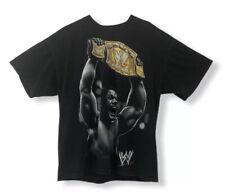 John Cena WWE Unisex Hybrid Graphic T-Shirt Black Champ Belt Wrestling Tee L