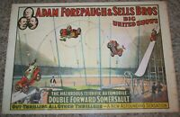 Vintage 1960 ADAM FOREPAUGH & SELLS BROS CIRCUS POSTER Circus World Museum CARS