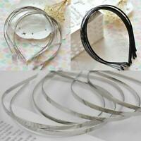 Silver  Alice Metal Headband 5mm Plain Tiara Base Hair Accessories Gifts