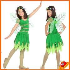 Costume Carnevale Ragazza Bambina Principessa Trilly Fata Verde Tg 3-4 anni