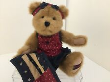 Vintage Boyds Bears & Friends - Katie B. Bearyproud - movable joints - quilt