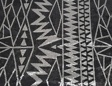 Black Silver Sequins Design Fabric Mesh Backing by the Yard