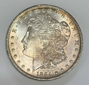 1884-O Morgan Silver Dollar Brilliant Uncirculated Condition HOT 50 VAM 10 O/O