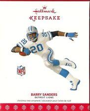2017 Hallmark Keepsake Ornament NFL Barry Sanders Detroit Lions Football Legend