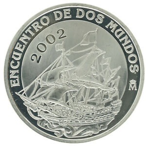 Spain - Silver 10 Euro Coin - 'Spanish Galleon' - 2002 - Proof