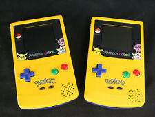 Nintendo Game Boy Color Pokemon Pikachu System x 2 - Working, No Sound - AS-IS