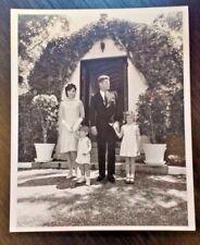 Vintage 1960s Official White House Desk Photo President John F Kennedy Family