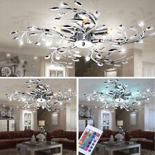 LED Decken Leuchte RGB Fernbedienung Wohn Zimmer Blumen Blüten Lampe dimmbar