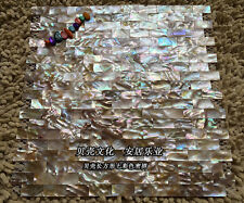 11Pcs Brick Pattern Strip Shell Mosaic Mother of Pearl Shower Bar Kitchen Tile