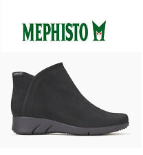 NEW $399 Mephisto Margaux Nubuck Booties Ankle Boots Black sz 9