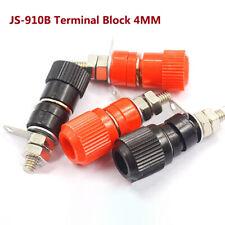 JS-910B Terminal Block 4mm Banana Plug Test Amplifier Socket Connector Black/Red