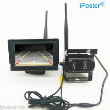 "12v-24v Sans Fil 4.3"" Moniteur LCD Bus Camion Rear View Kit + IR inverseur Camera"