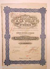 1910 ACTION 100F GRANDS MAGASINS ST DENIS
