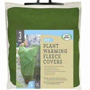 Smart Garden Plant Warming Frost Protect Fleece Cover Jacket 3pk Large 2m x 1.5m