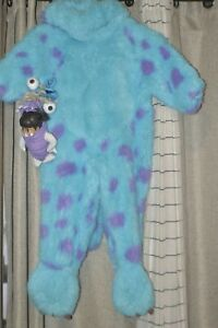 Disney Store 2001 Monsters Inc Sully and Boo Child Costume (2-4T)