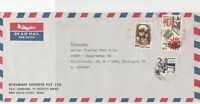 India Airmail to W.Germany Stalwart Exports Pvt. Ltd. 3X Stamps Cover Ref 23452