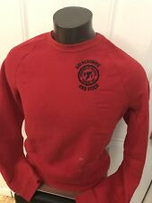 Men's Abercrombie & Fitch Fleece Crewneck Sweater Sweatshirt Long Sleeve L Red