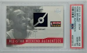 2003-04 UD All-Star Weekend Authentics KOBE BRYANT #AS-KB, Graded PSA 10, Pop 2