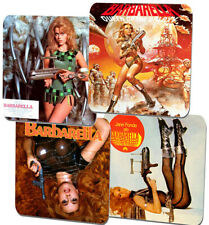 Barbarella Poster Coasters Set Of 4. High Quality Cork. Vintage Sci Fi Movie