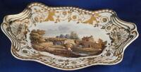 Antiguo 19thC Spode Porcelana Escenas Pintorescas Plato Fuente Porzellan Menu