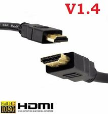 HDMI CABLE GOLD 1080P LEAD SMART HD TV 3D LCD PS4 1m 2m 3m 5m 10m 1.4V PS3 34641