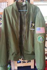 U.S Army M-1 Flight Bomber Souvenir Green Jacket Size L