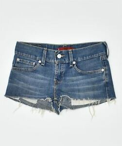 LEVI'S Womens Eve Denim Hot Pants Small W29 Blue Cotton Classic GZ03