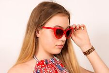 Vintage Red Cat-eye sunglasses 50s pinup rockabilly retro