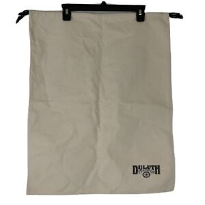 Duluth Trading Company Large Laundry Duffel Canvas Storage Bag 20x25 Draw String