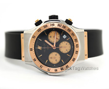 Hublot Super B Chronograph 1920.7 18k Rose Gold Steel Watch