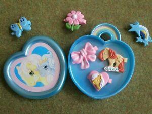 My Little Pony Trinket Box UK EURO 6 hair clips kleines petit poney vintage G1